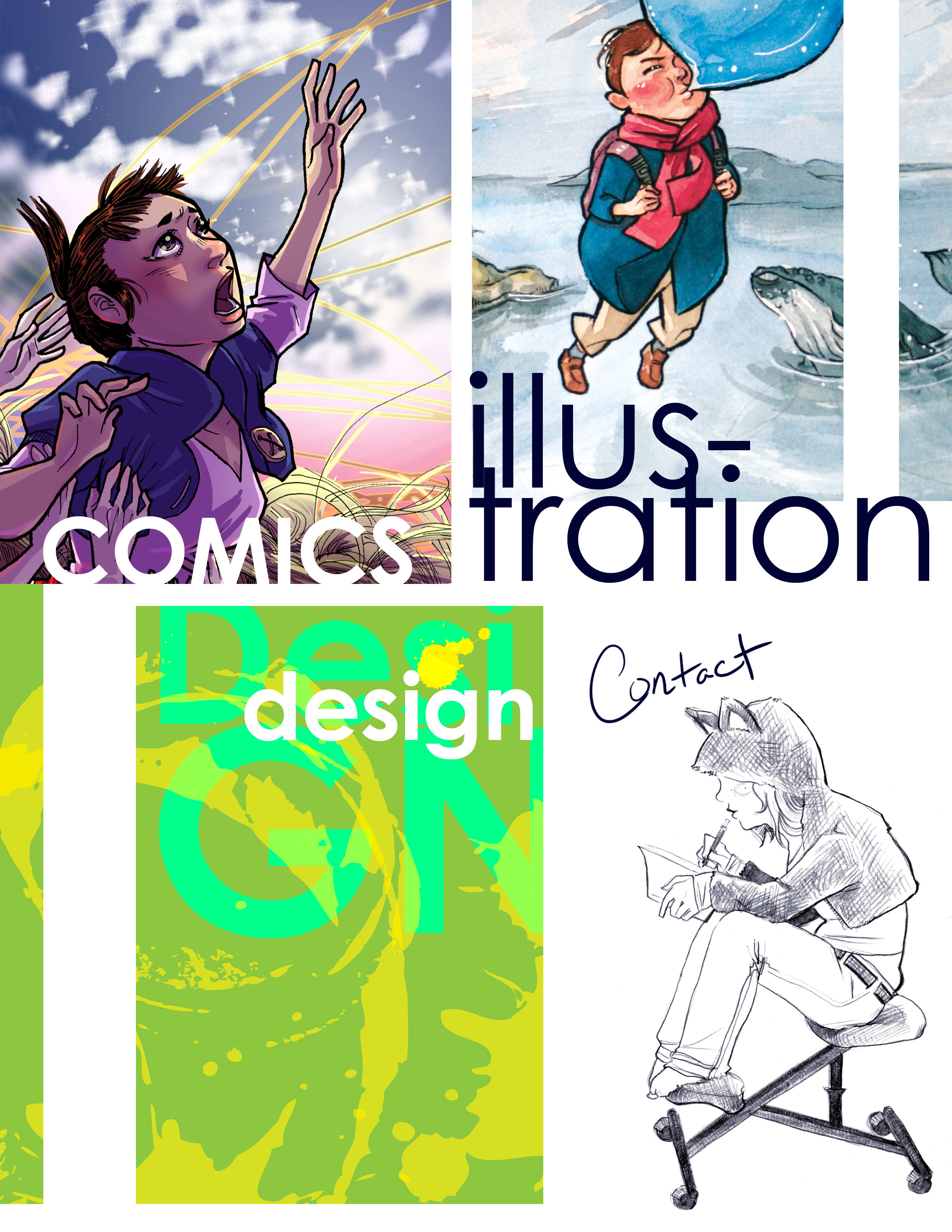 Comic-Illustrations-Design-Contact